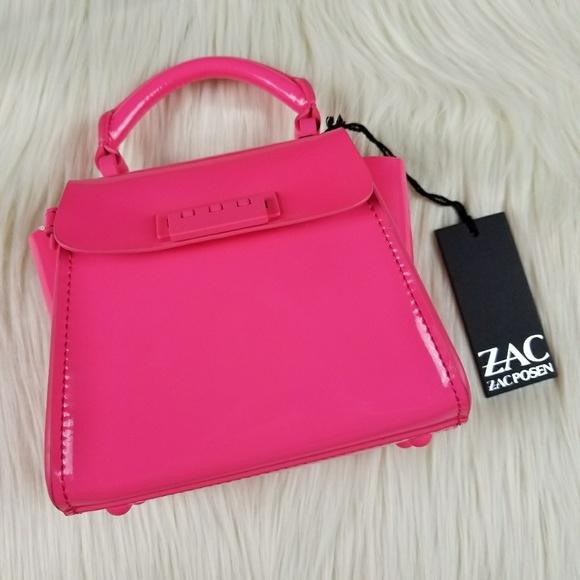 7d9e7313eb Neon Pink Zac Zac Posen Patent Leather Mini Eartha